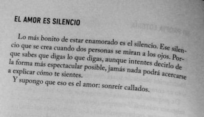 El Amor Es Silencio Citas De Amor Frases De Amor Y Frases
