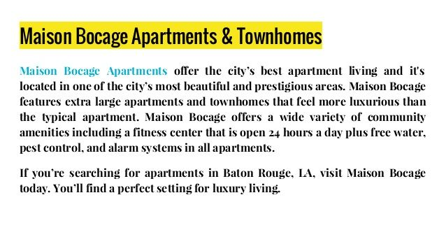 Apartments Baton Rouge LA :- #ApartmentsForRentBatonRougeLA #ApartmentsInBatonRouge #ApartmentBatonRougeLA #ApartmentsBatonRougeLA #Louisiana #BatonRouge #Apartments !!! http://www.maisonbocageapt.com.
