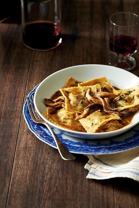 Braised Short Rib Ravioli with Porcini Mushroom Jus