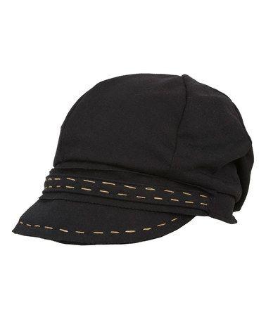 Look at this #zulilyfind! Black Contrast Stitch Cadet Cap by Magid #zulilyfinds