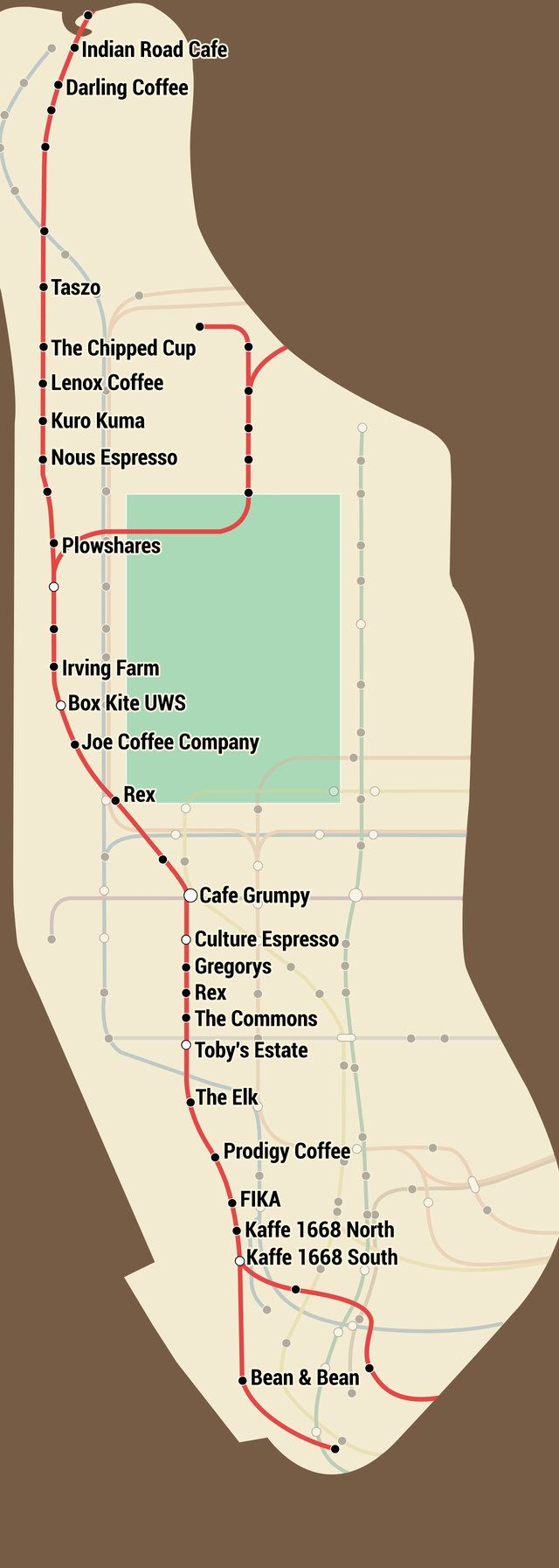 The perfect map for NYC coffee snobs.