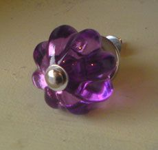 Purple Faceted Knob The reason his is on Painted Furniture, is that it's on Annie Sloan's Chalk Paint site. I have to have a chest in my bedroom with these knobs!