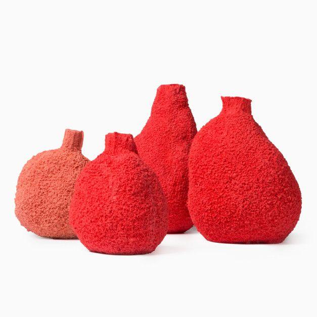 Set of Four Else Coral Vases