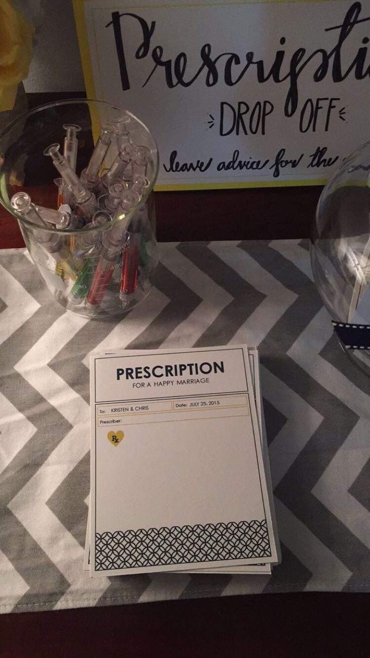 free bridal shower advice card template%0A Prescription for a happy marriage