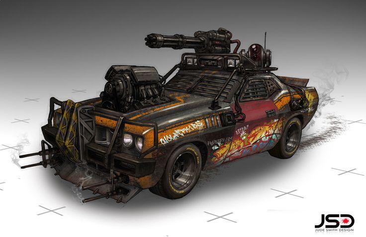 post apocalyptic car