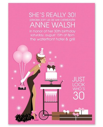 Fancy Birthday Invitations - Doc Milo I want this for my 40th or 50th Bday!!!!!