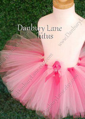 Pink Tutu only Breast Cancer Awareness Pink Ribbon by DanburyLane Tutus on Etsy