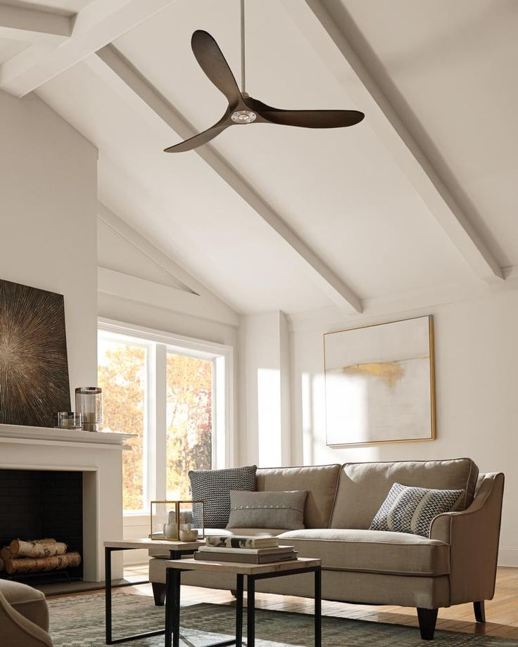 The Maverick Collection: With a sleek modern silhouette, a DC motor and super energy-efficiency, the Maverick ceiling fan from Monte Carlo features softly rounded blades and elegantly simple housing. Maverick has a 60-degree blade sweep and a 3-blade design that delivers a distinct profile. Maverick includes a hand-held remote, and is available with either a brushed steel or matte black housing finish. Both versions include dark walnut, hand-carved, balsa wood blades. Maverick fans are…