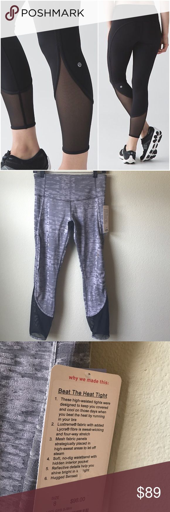 NWT LULULEMON BEAT THE HEAT TIGHT GRAY -- Size 8 Brand: Lululemon Athletica Beat The Heat Tight | Grayish Black SjBw | black is stock photo only  Condition: New with tag || Size 8   🚩NO TRADES  🚩NO LOWBALL OFFERS  🚩NO RUDE COMMENTS  🚩NO MODELING  ☀️Please don't discuss prices in the comment box. Make a reasonable offer and I'll either counter, accept or decline.   I will try to respond to all inquiries in a timely manner. Please check out the rest of my closet, I have various brands…