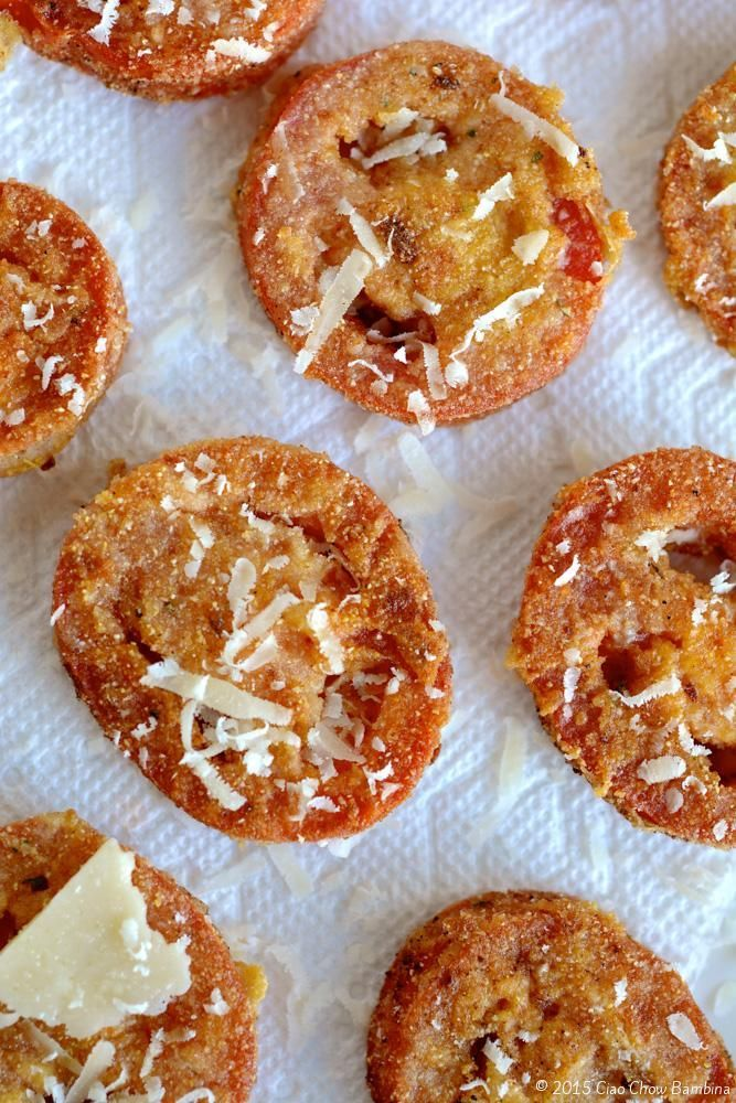 Fried Red Tomatoes  http://CiaoChowBambina.com