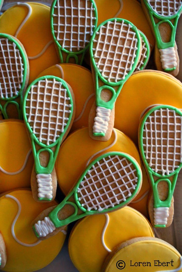 Tennis Balls & Tennis Racket Cookies!