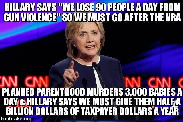 GUN CONTROL: Hillary on gun control & planned parenthood