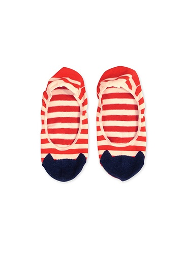 [tsumori chisato cats] striped sock with cat メンズ ボーダーキャットカバーソックス / ソックス