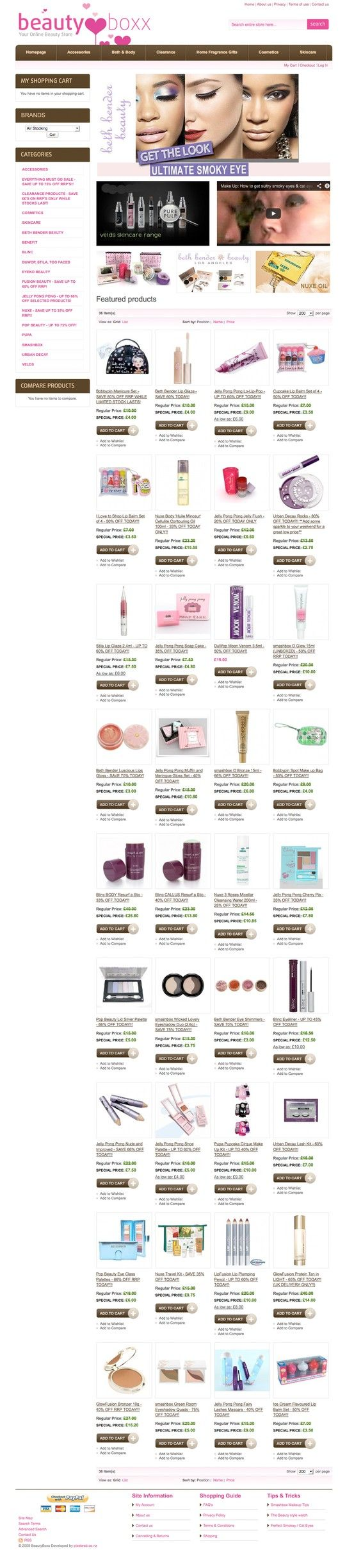 UK Cosmetics website in Magento eCommerce