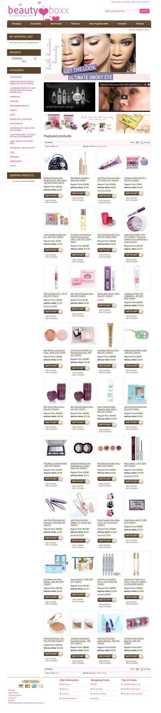 UK Cosmetics website in Magento eCommerce