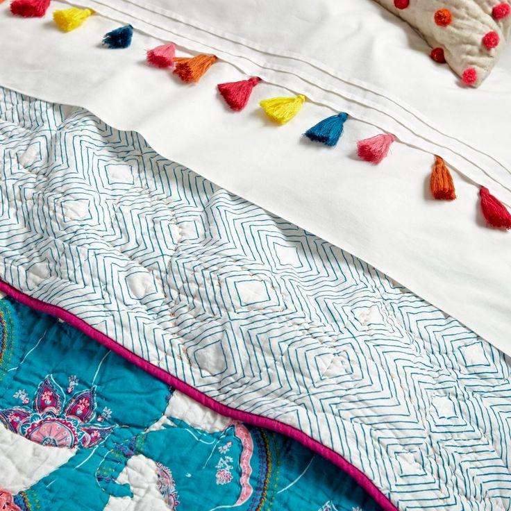 Modern Mosaic Tassel Sheet Set | The Land of Nod