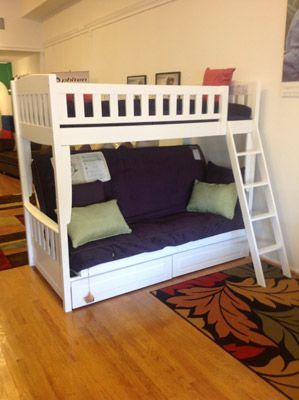 Cinnamon White Futon Bunk Bed The Futon San Diego 7470 Girard