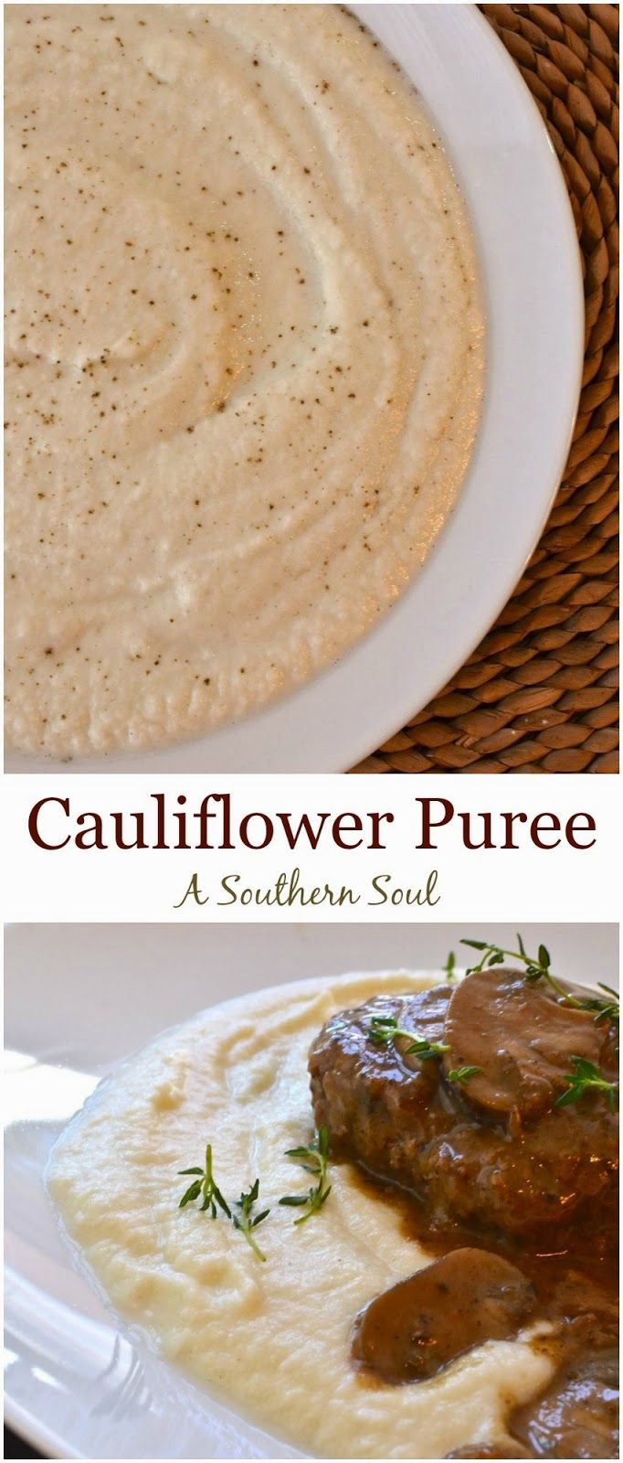 Cauliflower Puree Recipe is creamy, rich & a surprise dish for even the pickests eater!