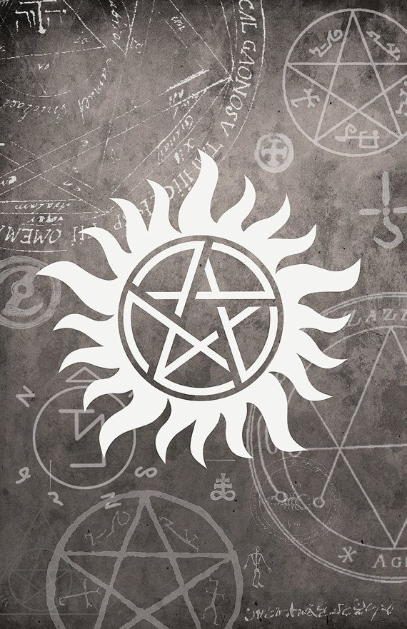 Supernatural Symbol Poster  - 11 x 17 Glossy Cardstock - Unisex teenage gift - Anti-Possession sign Winchester Dean Sam Castiel