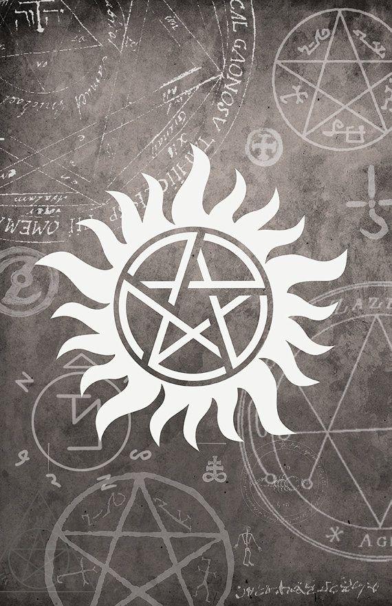 Supernatural Symbol Poster  - 11 x 17 Glossy Cardstock - Unisex teenage gift - Anti-Possession sign Winchester Dean Sam Castiel