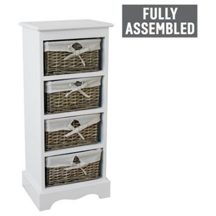 Buy New Malvern 4 Drawer Storage Unit - White at Argos.co.uk, visit Argos.co.uk to shop online for Storage units