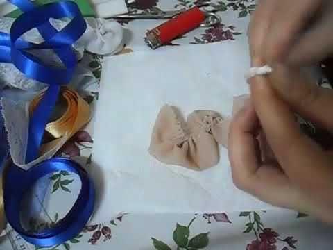HOW TO MAKE A CHIFFON FLOWER facem floare din chiffon pentru buchete