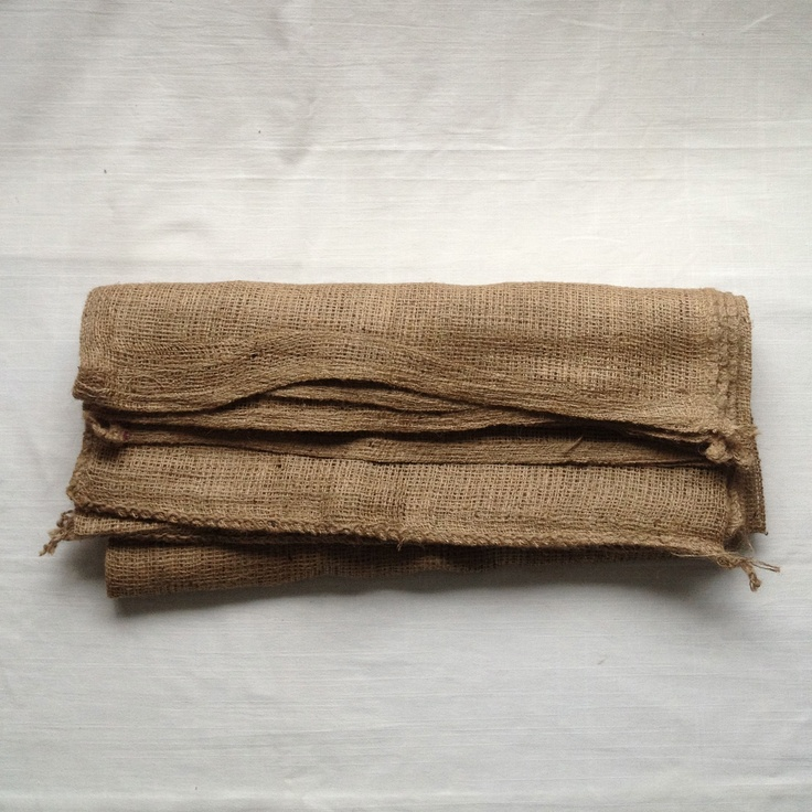Hessian sacks....immensely practical in the garden.  www.thecleverhampercompany.co.uk