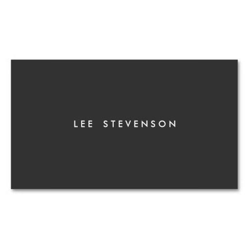 305 best photographer business cards images on pinterest lyrics professional modern simple black minimalist plain business cards colourmoves