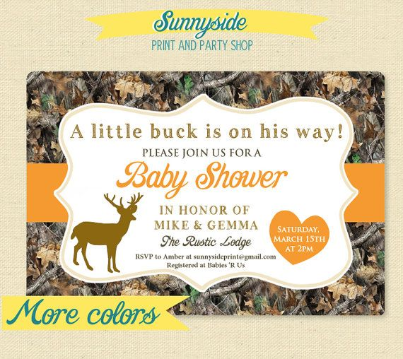 Little Deer Hunter  Camo / Camouflage Baby by sunnysideprintparty, $14.00