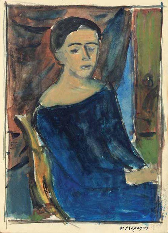 Yannis Moralis-Portrait of a woman