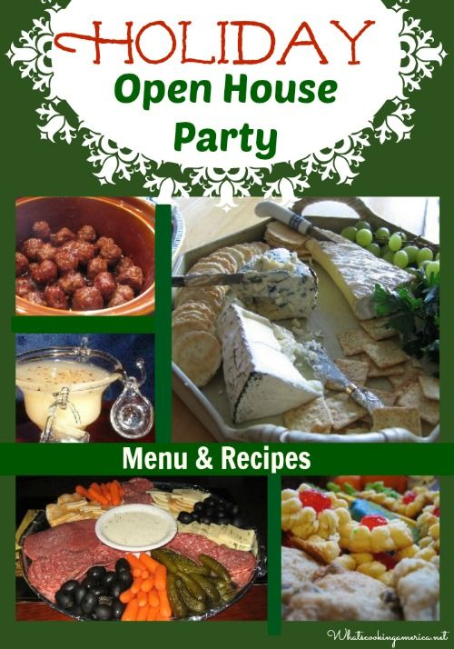 Holiday Open House Party - Menu & Recipes | whatscookingamerica.net | #holiday #christmas #party #menu #recipes #cookies #beverages #cheese #appetizers