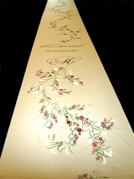 62 best Wedding Aisle Runners, Personalized and Hand Painted images ...