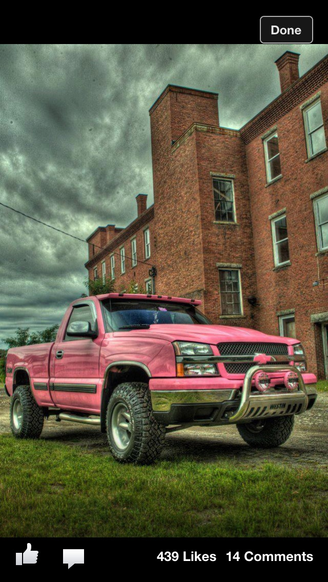 Pink Chevy Pickup ☆ Girly Cars for Female Drivers!