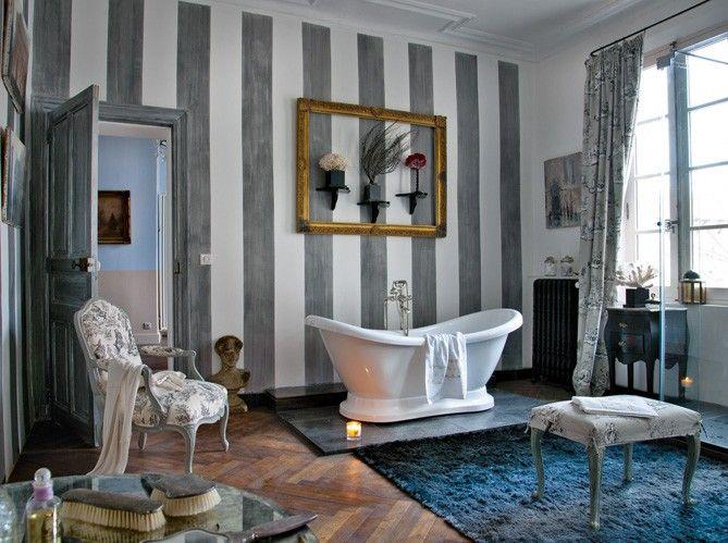 Baño estilo provenzal. Me encanta!!! Quiero uno así!!!