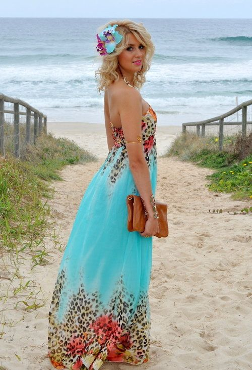 67 best images about beach wedding coral turquoise on for Colored beach wedding dresses