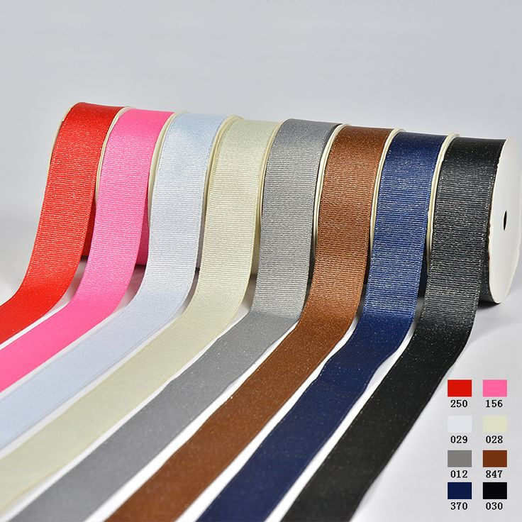 Wholesale Ribbed Silver Weft Ribbon Garment Accessories Gift Packaging DIY Accessories