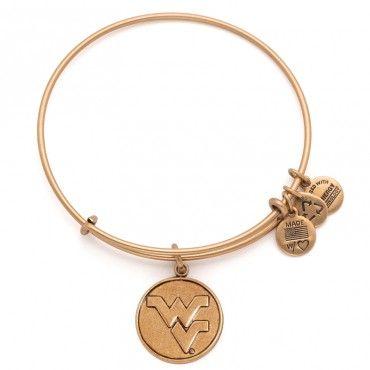 Alex And Ani West Virginia University® Logo Charm Bangle #WVU #mountaineers #AlexAndAni @WVU - West Virginia University