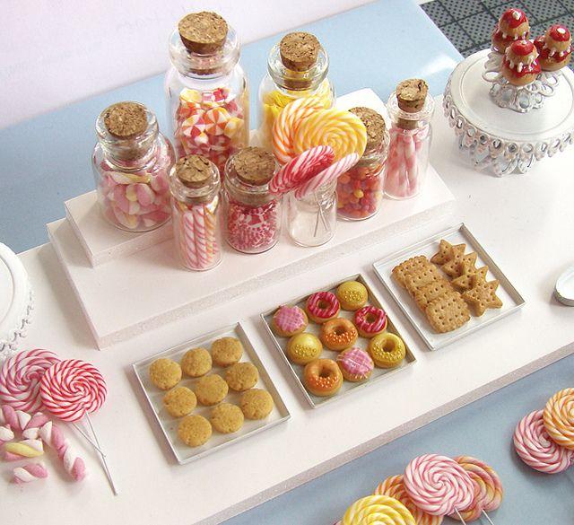 Miniature Food - Candy Dessert Table by PetitPlat - Stephanie Kilgast, via Flickr