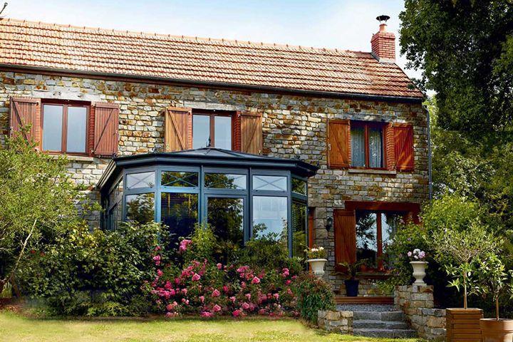 Veranda Eleganz Maison Style Permis De Construire Couleur Gris