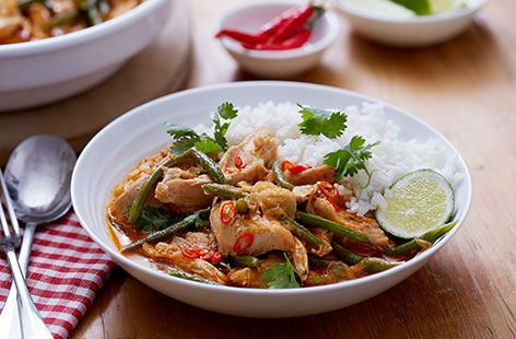 Thai red turkey curry