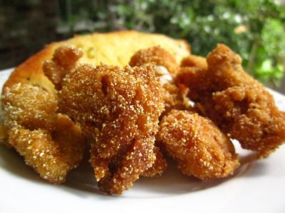Southern Fried Catfish Nuggets from Food.com: This is the only way I've ever had catfish. I can't stand to eat it fried in restaurants, it tastes muddy to me, but I can eat it this way.