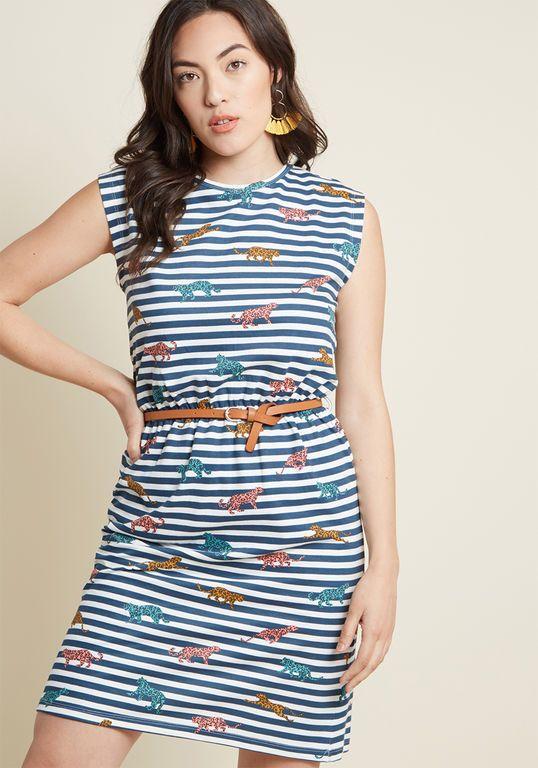 Sugarhill Boutique Sounds About Bright Cotton Dress in Stripes in ... a619b0546