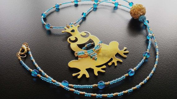 Handamade Beaded miyuki beads with gold plated Frog by BYTWINS