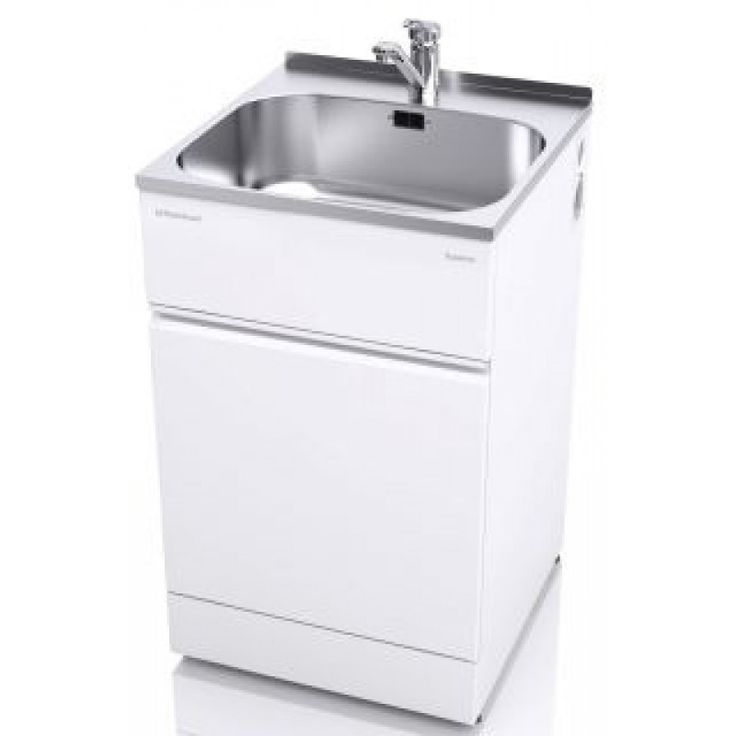 The ST6001 supertub is a great choice for your laundry and comes with a single-handed mixer tap suitable for all water pressures.  The full width cabinet door now comes with an extra rigid double layer of powder-coated galvanised steel and a layer of polystyrene in between.  The doors have two simple magnetic catches, which are easy to open and close, so no more fiddly clips.  It has a clean flat surface area at the rear of the bowl and has a lip designed to be either covered with a Supertub…