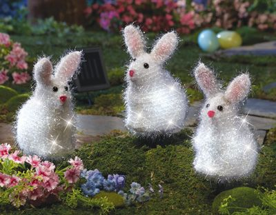 145 best easter decorations images on pinterest baby bunnies solar easter bunny garden stakes aloadofball Images