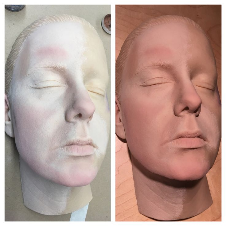 Funeral make up same face and make up but two different light - mortician job description
