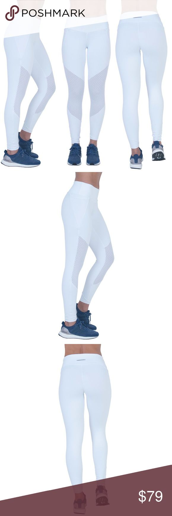 White Compression Mesh Brazilian Legging Solid color supplex leggings with mesh on side pockets and front leg panels on knee area. Wide waistband. Low rise. High performance. One size. The wide flat waistband smooths out your waist with comfort, preventing chafing, and rises slightly in the back to enhance coverage while your body is in motion. Our fabric comes with built-in UV SPF+50 protection technology, blocking both UVA and UVB damaging rays to keep your temperature under control and…