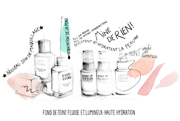 Illustration beauté et cosmétique Florence Gendre