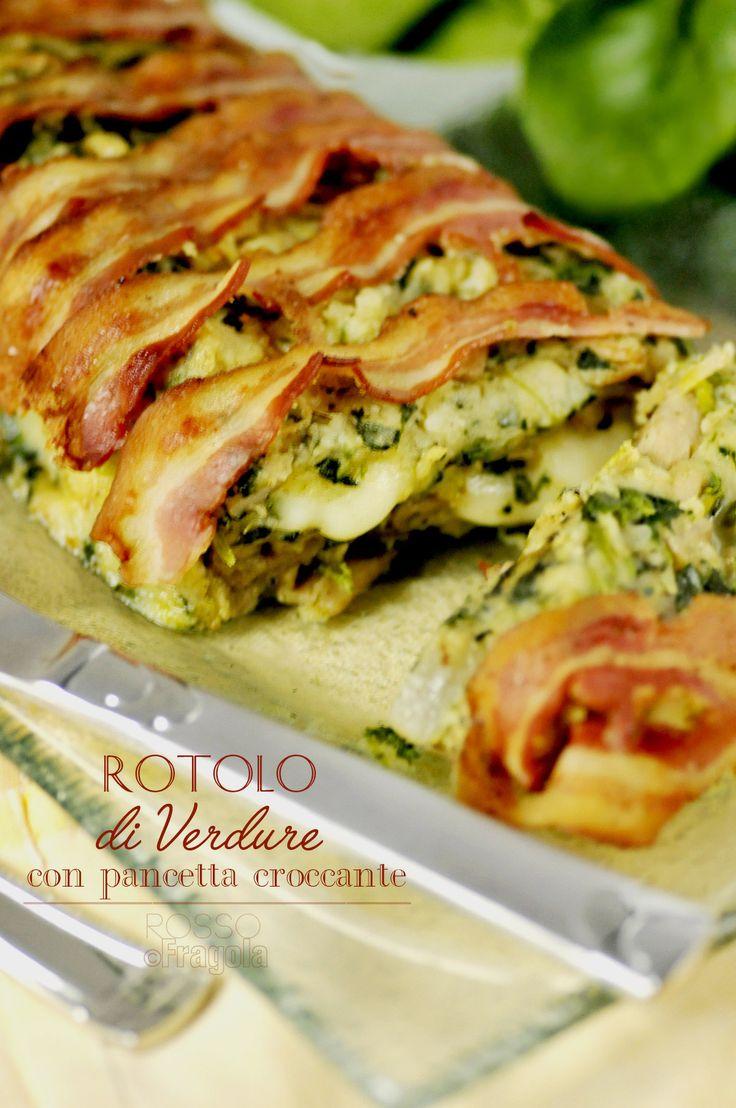 Rotolo di verdure con pancetta croccante - ROSSO FRAGOLA