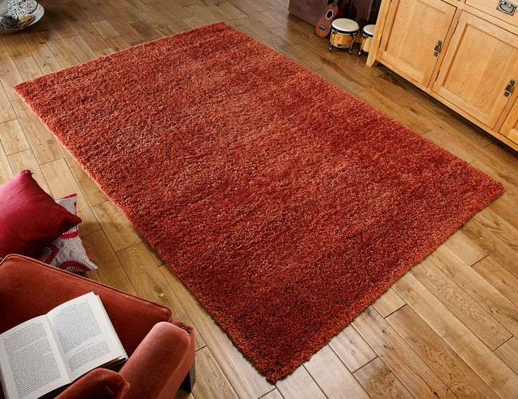 Luxurious_Non shedding_Hard wearing... This Harmony Rug has every feature you are looking for your floor decor. #shaggyrugs #polypropylenerugs #durablerugs #orangerugs #shagrugs #modernrugs